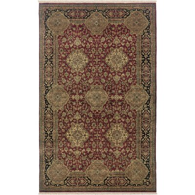 Uravakonda Hand-Knotted Burgundy Area Rug Rug Size: Rectangle 56 x 86