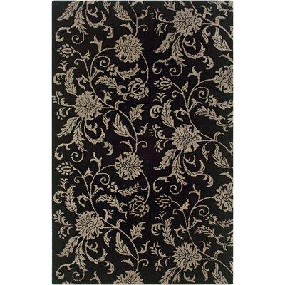 Uthiramerur Hand-Tufted Black Area Rug Rug Size: 9 x 12