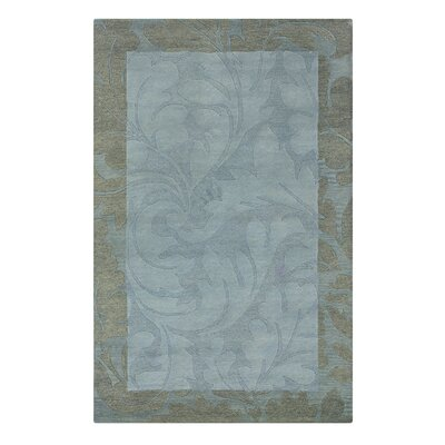 Utraula Hand-Tufted Blue Area Rug Rug Size: Round 8