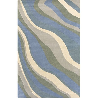 Vadalur Hand-Tufted Blue Area Rug Rug Size: 3 x 5