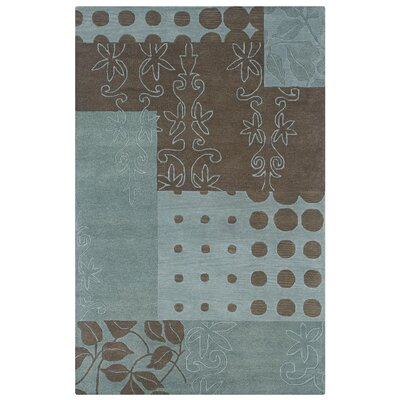 Kasba Hand-Tufted Blue Area Rug Rug Size: Rectangle 9 x 12