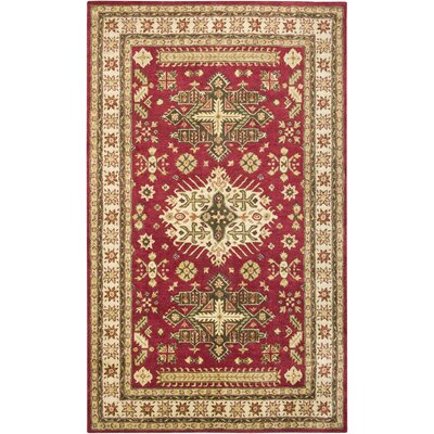 Vaijapur Hand-Tufted Red Area Rug Rug Size: 3 x 5