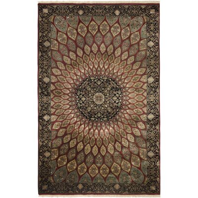 Vandavasi Hand-Knotted Burgundy Area Rug Rug Size: Rectangle 8 x 10