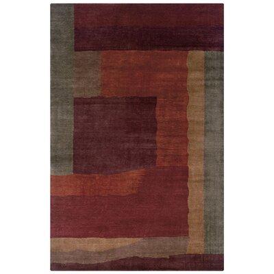 Vaniyambadi Hand-Knotted Rust Area Rug Rug Size: 5'6