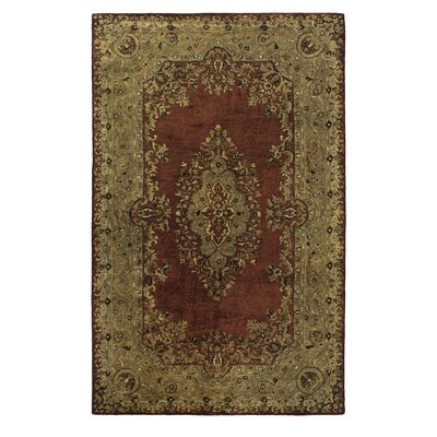 Vapi Hand-Tufted Burgundy and Beige Area Rug Rug Size: Rectangle 5 x 8