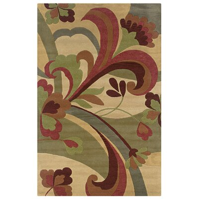 Vellakoil Hand-Tufted Gold Area Rug Rug Size: 5 x 8