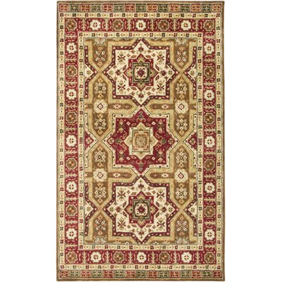 Venkatagiri Hand-Tufted Brown Area Rug Rug Size: Round 8