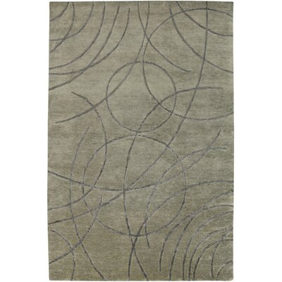 Ajmer Hand-Knotted Gray Area Rug Rug Size: Rectangle 9 x 12