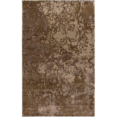 Vijapur Hand-Knotted Brown Area Rug Rug Size: Rectangle 56 x 86