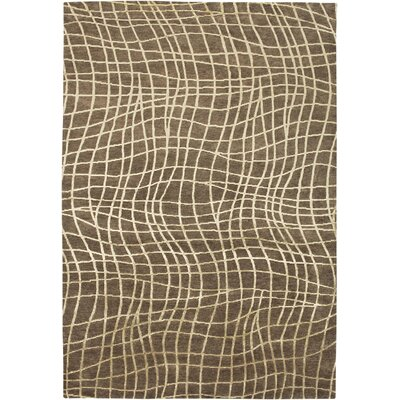 Vikarabad Hand-Knotted Chocolate Area Rug Rug Size: Rectangle 56 x 86