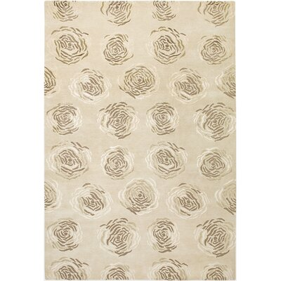 Vinukonda Hand-Knotted Light Gold Area Rug Rug Size: 56 x 86