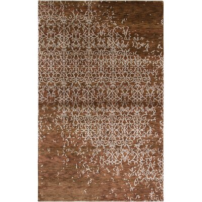Viramgam Hand-Knotted Rust Area Rug Rug Size: Rectangle 56 x 86