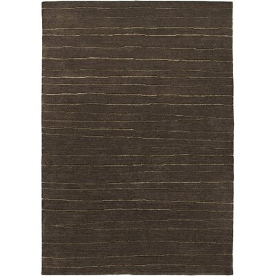 Visnagar Hand-Knotted Dark Brown Area Rug Rug Size: 56 x 86