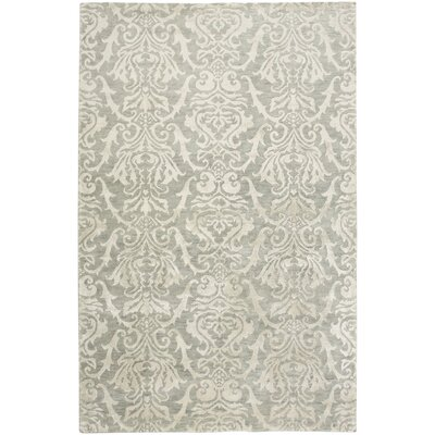 Vrindavan Hand-Knotted Gray Area Rug Rug Size: Rectangle 56 x 86
