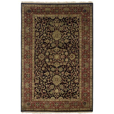 Wadgaon Hand-Knotted Black Area Rug Rug Size: Runner 26 x 10