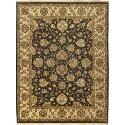 Wanaparthy Hand-Knotted Charcoal Area Rug Rug Size: Rectangle 56 x 86