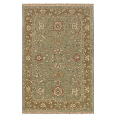 Wani Hand-Woven Brown/Tan Area Rug Rug Size: 56 x 86