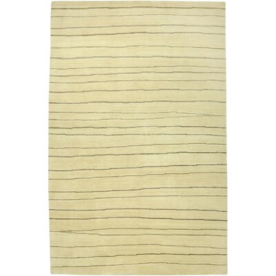 Wankaner Hand-Knotted Ivory Area Rug Rug Size: 56 x 86