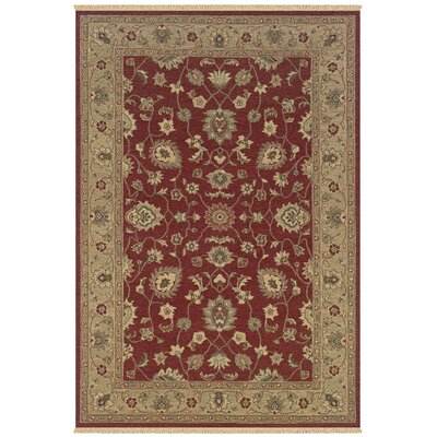 Warhapur Hand-Woven Red Area Rug Rug Size: 10 x 14
