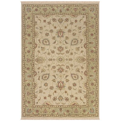 Warisaliganj Hand-Woven Beige Area Rug Rug Size: Rectangle 36 x 56