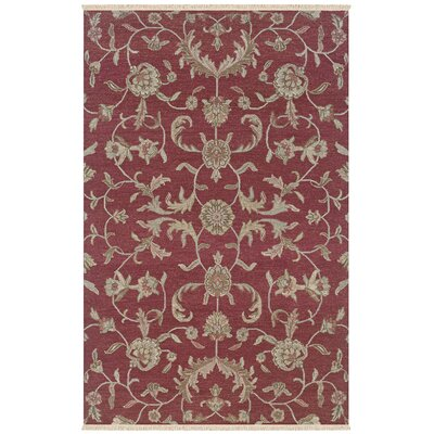 Warora Hand-Woven Red Area Rug Rug Size: Rectangle 56 x 86