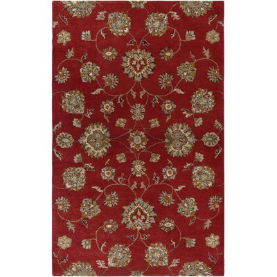 Abidjan Hand-Tufted Red Area Rug Rug Size: 2 x 3