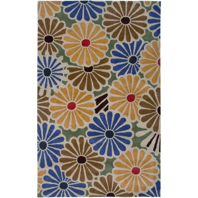 Spain Hand-Tufted Beige Area Rug Rug Size: Rectangle 8 x 10