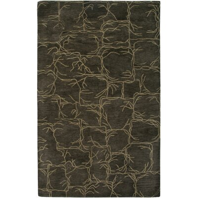 Rensselaer Hand-Tufted Brown Area Rug Rug Size: Round 8