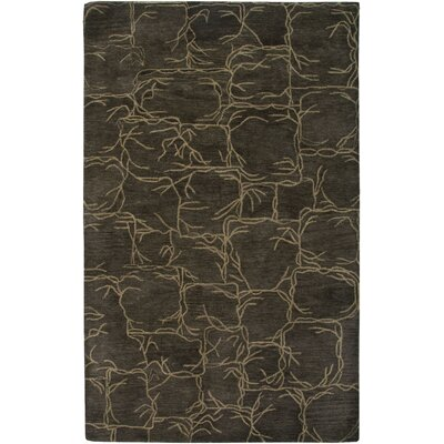 Rensselaer Hand-Tufted Brown Area Rug Rug Size: Rectangle 9 x 12