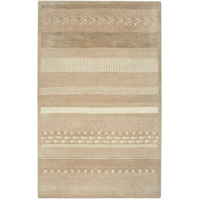 Colombia Hand-Tufted Beige Area Rug Rug Size: 36 x 56