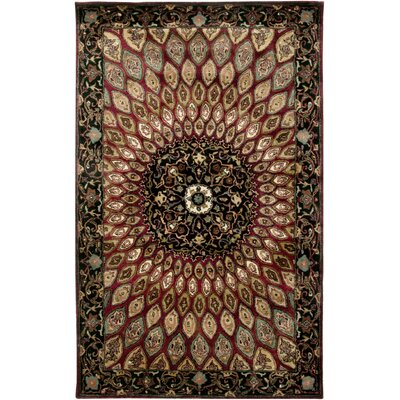 Bergen Hand-Tufted Red Area Rug Rug Size: Rectangle 5 x 8