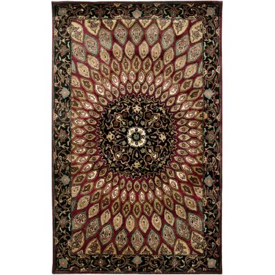 Bergen Hand-Tufted Red Area Rug Rug Size: 8 x 10
