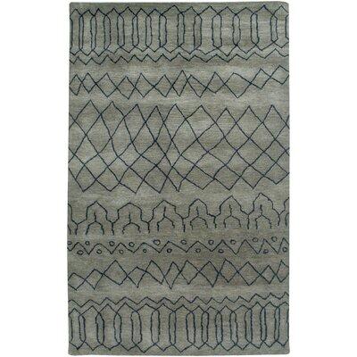 Bodo Hand-Tufted Gray Area Rug Rug Size: 3 x 5