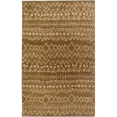 Bristol Hand-Tufted Brown Area Rug Rug Size: 9 x 12
