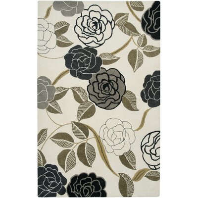 Brunswick Hand-Tufted White/Grey Area Rug Rug Size: Rectangle 2 x 3