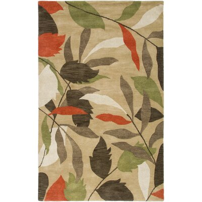 Buenos Hand-Tufted Beige Area Rug Rug Size: 5 x 8