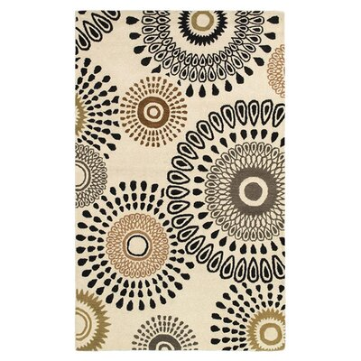 Aires Hand-Tufted Beige Area Rug Rug Size: Rectangle 9 x 12