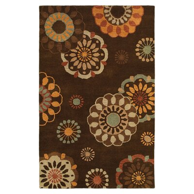 Calabar Hand-Tufted Brown Area Rug Rug Size: 5 x 8