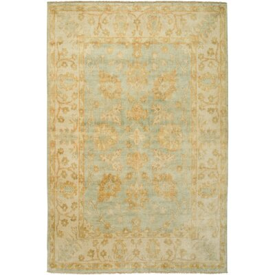 Cabinda Hand-Knotted Beige Area Rug Rug Size: Rectangle 56 x 86