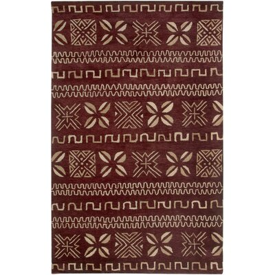 Cayenne Hand-Tufted Red Area Rug Rug Size: Round 8