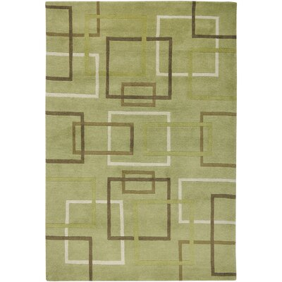 Dakar Hand-Knotted Lime Area Rug Rug Size: Rectangle 5 x 8
