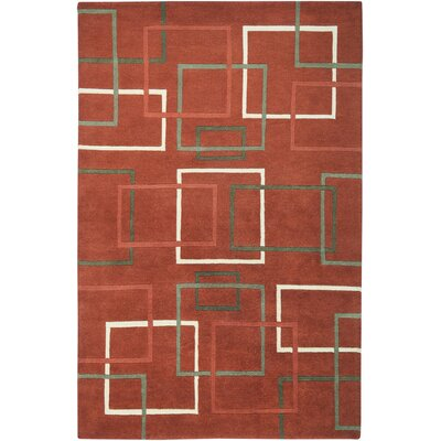 Senegal Hand-Knotted Rust Area Rug Rug Size: Rectangle 3 x 5