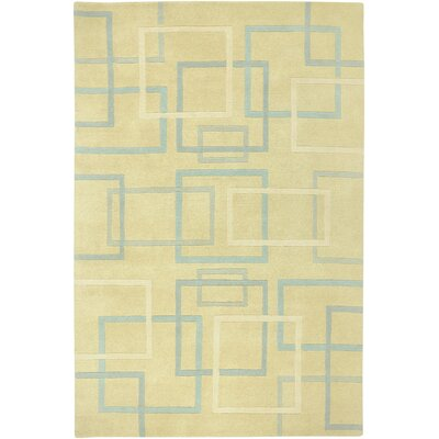 Douala Hand-Knotted Ivory Area Rug Rug Size: Rectangle 5 x 8