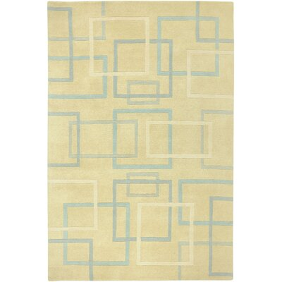 Douala Hand-Knotted Ivory Area Rug Rug Size: Rectangle 9 x 12