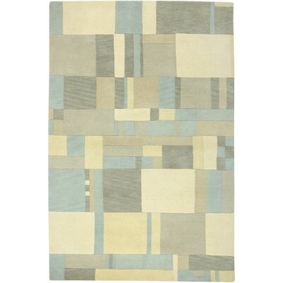 Virginia Hand-Knotted Blue/Tan Area Rug Rug Size: 9 x 12