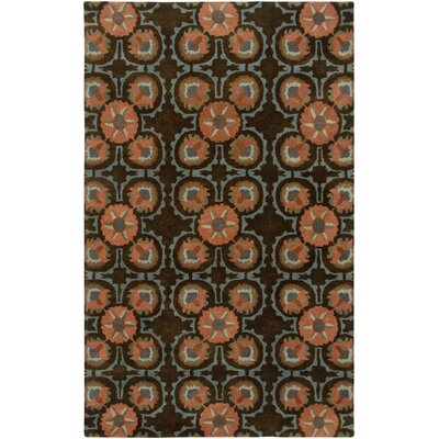 Bermuda Hand-Tufted Brown Area Rug Rug Size: 3 x 5