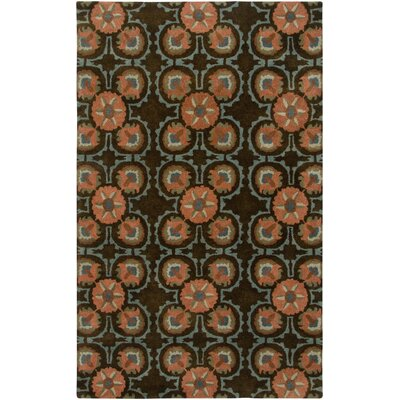 Bermuda Hand-Tufted Brown Area Rug Rug Size: Round 8