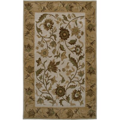 Huelva Hand-Tufted Beige/Light Gold Area Rug Rug Size: Rectangle 9 x 12