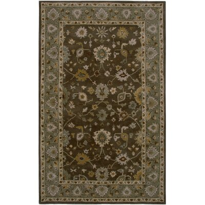 Lagos Hand-Tufted Brown/Green Area Rug Rug Size: Round 8