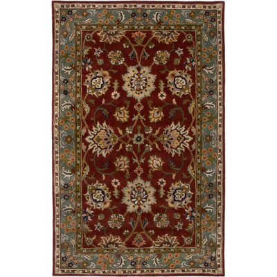 Las Palmas Hand-Tufted Red/Green Area Rug Rug Size: Round 8
